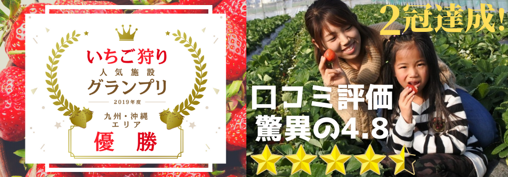 いちご狩り人気施設グランプリ2019年度 九州・沖縄エリア 優勝